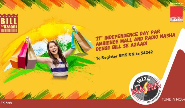 Radio Nasha and Ambience Mall Present Bill Se Azaadi