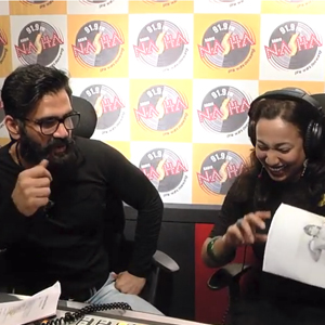 Suniel shetty & RJ Rohini at the Radio Nasha Studio